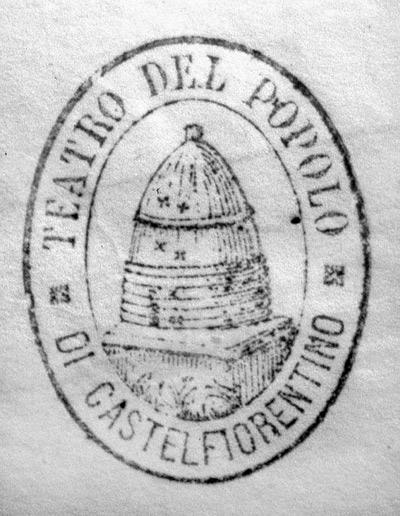 Il timbro con lo stemma della Società del Teatro del Popolo - Il timbro con lo stemma della Società del Teatro del Popolo